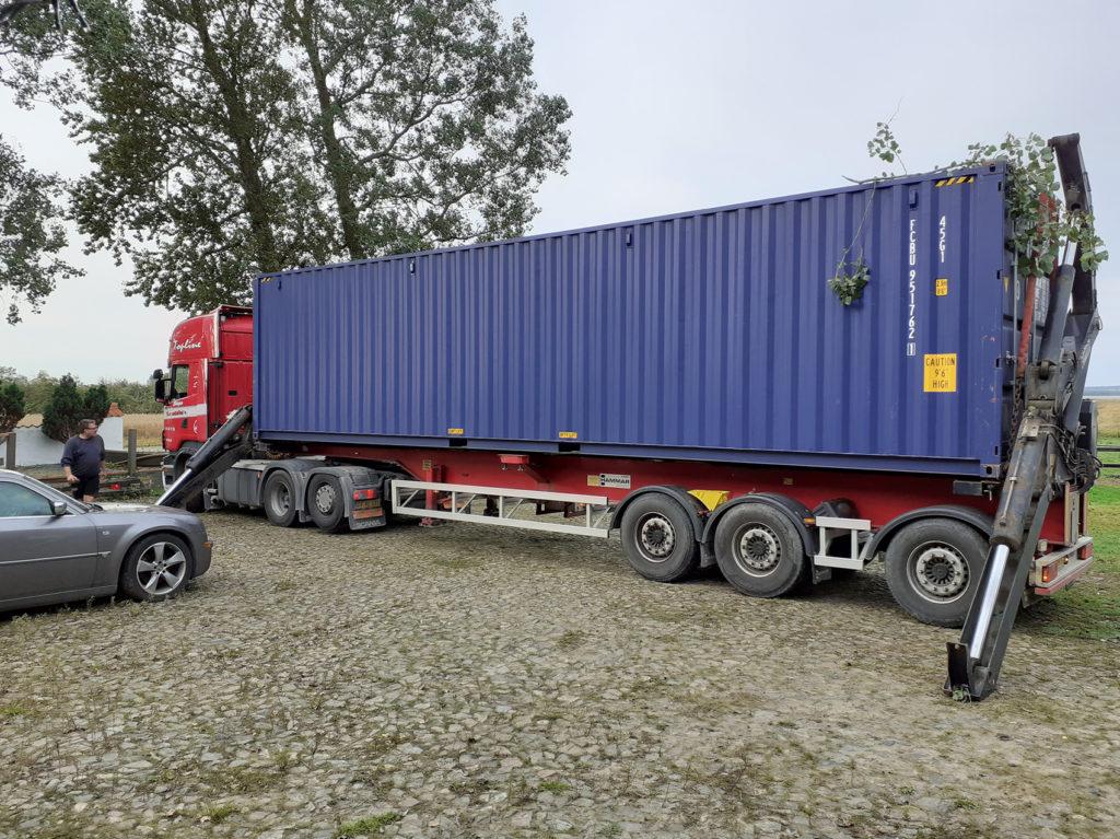Box2all - Container på lastbil